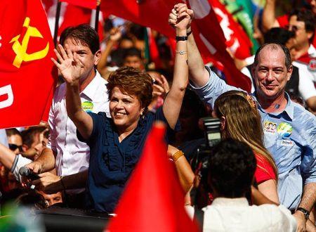 Dilma Rousseff durante campanha à Presidência, em 2010, em Fortaleza